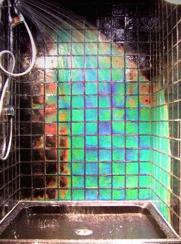 Heat-Sensitive Shower Tiles