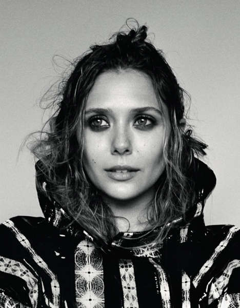 Messy-Haired Celeb Photoshoots - The Dazed & Confused September 2013 Editorial Stars Elizabeth Olsen