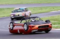 Upside-Down Race Cars