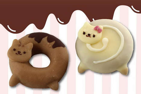Anime-Inspired Cat Donuts - The Cartoon Anime Series 'One Nya Hup' Inspired Cat Donut Tr