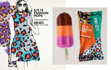 Decadent Designer-Inspired Popsicles - Lara Atkinson's Fashion Pop Concept Makes Couture Edible