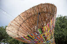 Snaking Civic Sculptures - This Multi-Hued Houston Art Installation Reflects the Local Community