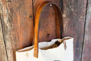 Learn How to Create a Canvas Tote Bag with Leather Straps at Home