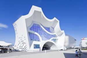 The Hyundai Pavilion by Unsangdong Architects Mimics Motion
