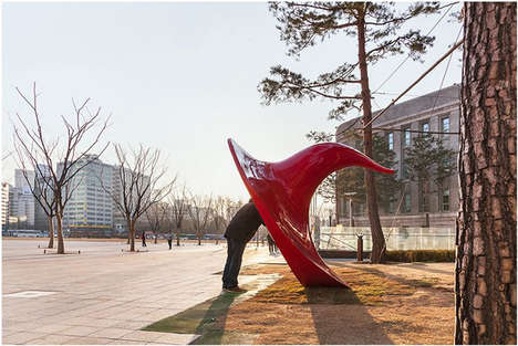Ear-Inspired Sculptures - Yobosayo by Yang Soo-in Allows Korean Citizens to Voice Opinions