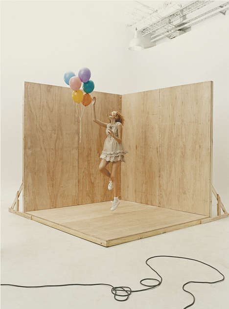 Playfully Stages Photoshoots - Nadine by Bob Lightowler Boasts a Soft and Organic Visual Appeal