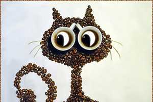 Irina Nikitina Creates Adorable Animals with Coffee Beans