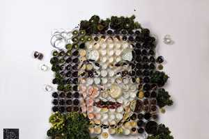Martin Sati's Food Artwork is Made From Multiple Cups of Food and Veggies
