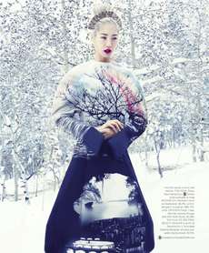 33 Snowy Fashion Spreads - From Winter Romance Editorials to Sizzling Ski Alps Shoots