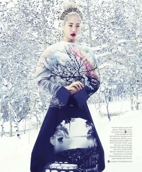 Snowy Fashion Spreads