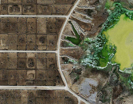 Destroyed Agricultural Photography - Feedlots by Mishka Henner Captures Open Wounds in Landscapes
