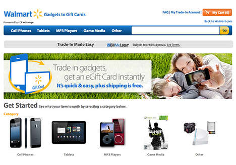 Technology Trade-In Programs - The Walmart 'Gadgets to Gift Cards' Program Offers Competitive Trades
