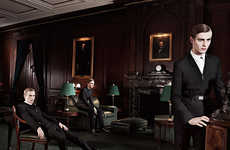 Dark Gentlemen's Club Campaigns - The Dior Homme 'The Players' Fall/Winter Campaign is Suave