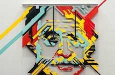Angular Adhesive Artwork - NO CURVES Creates the Illusion of Curves in the Top of the Lines Expo