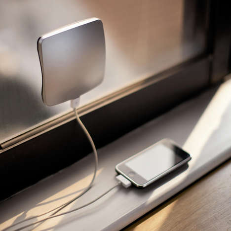 Adhesive Solar Phone Chargers - The Solar Window Charger Uses the Sun