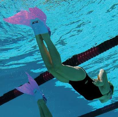 Mermaid-Like Monofins - This Flipper Gives Swimmers a Convincing Mermaid Tail