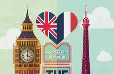 The London vs. Paris Infographic Puts Two Iconic Cities Head to Head