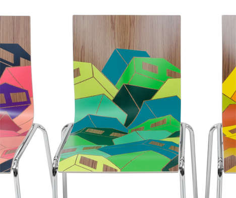 Graffiti Chair Collaborations - Eske Kath Redesigns the Chairik Collection by Erik Magnussen