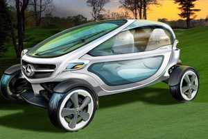 The Mercedes-Benz Golf Cart Brings High Tech to the Green