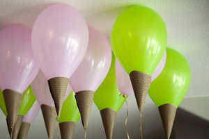 Make Balloons Look Like Ice Cream Cones with This Fun Tutorial