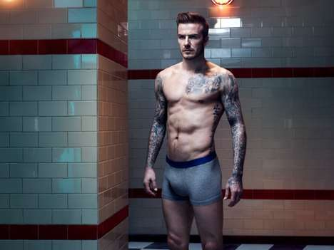 Soccer Star Loungewear Lookbooks - The David Beckham H&M Bodywear Fall/Winter 2013 Line is Sporty