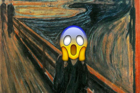 Emoji-Injected Classical Paintings - The Emojinal Art Project Brings Humor to Traditional Artworks