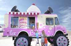 Macho Ice Cream Vans - The Skoda Monster Ice Cream Truck is a Deliciously Wacky PR Stunt