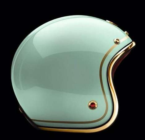 Luxuriously Lacquered Helmets - The Quality Helmet Flaunts a Gleaming Polished Finish