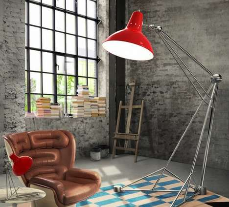 Surreal Oversized Floor Lamps - The Diana Lamp from Delightfull is Magically Large