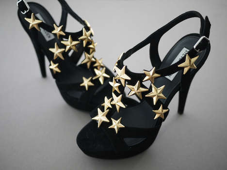 DIY Star-Accented Heels - This Crafty DIY Activity Turns an Ordinary Sandal into a Star-Studded Shoe