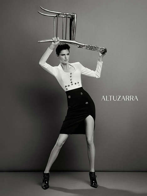 Elegantly Rebellious Fashion Ads - The Altuzarra Fall 2013 Ad Campaign Stars Stella Tennant