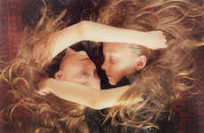 Ethereal Twin Photography - Erna & Hrefna by Ariko Inaoka are Like Magical Elfin Creatures