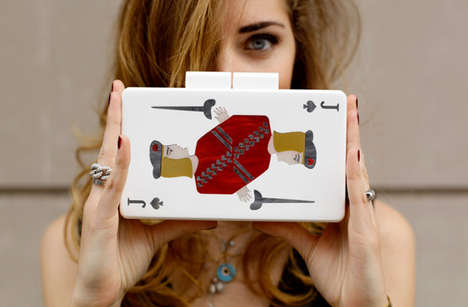 Cute Card Deck Clutches - These Chic Clutches by Urania Giourmetaki are Hand-Crafted in Greece
