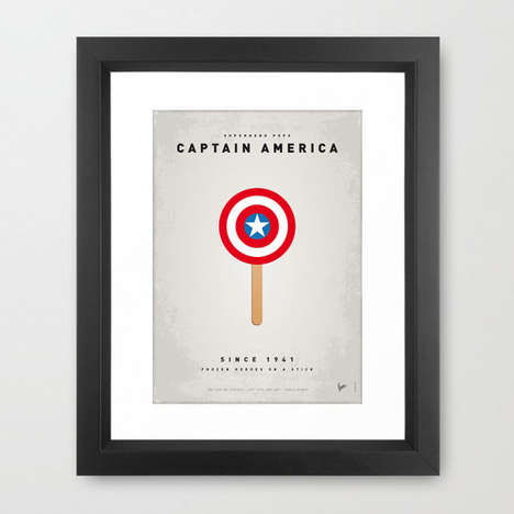 Superhero Ice Cream Posters - Chungkong's Superhero Ice Pops Imagine Heroes as Popsicles