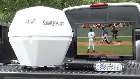 Portable Satellite Dishes - The Tailgater Portable Satellite Brings Cable to the Parking Lot