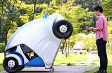 Foldable Electric Vehicles - The Armadillo-T Car Folds into Itself When Not in Use to Save Space