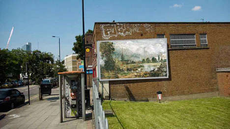 Artistically Repurposed Ad Spaces - Art Everywhere is an Undertaking to Showcase National Art