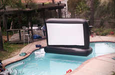 The Superior Inflatables Pool Movie Screen is a Whopping 110-Inches in Size
