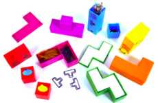 Retro Game Organizers - The Tetris Desk Tidy Set Helps Keep Your Workspace Organized and Fun