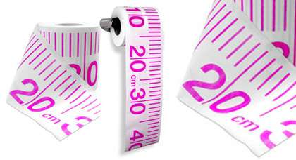 Measuring Tape Toilet Paper