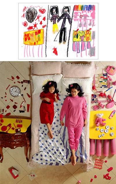 Bringing Children's Drawings to Life - 'Wonderland' Photography by Yeondoo Jung