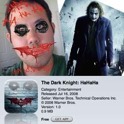 Jokerize Yourself - Free Dark Knight iPhone App