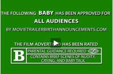 Movie Trailer Birth Announcements