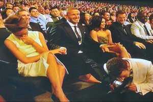 Justin Timberlake Smells David Beckham's Foot