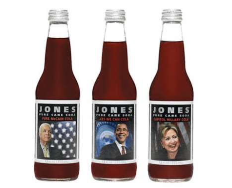Obama Soda - Jones Campaign Cola 2008 Has All the Candidates