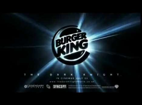 The Dark Knight Food Promotions - Burger King: Dark Whopper