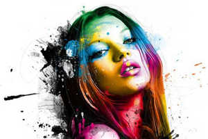 Patrice Murciano's Paint Splattered Celebrities Draw Attention