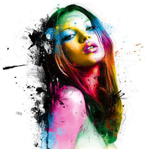 Splattered Celebrity Paintings - Patrice Murciano