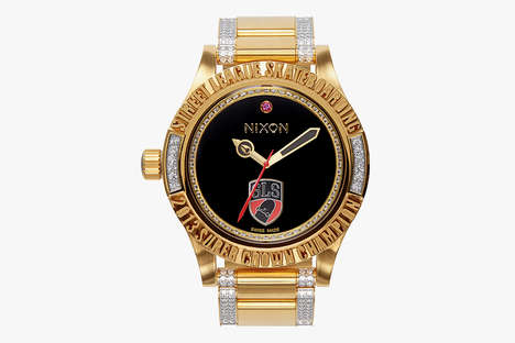 Blinged Out Trophy Watches - The Nixon x Street League Super Crown Championship Watch is Hot
