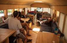 Upcycled School Bus Homes - Student Architect Hank Butitta Makes a School Bus Home